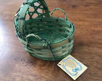 Basket: Green Mini-Bassinet Basket