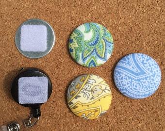 Paisley - Button Badge Reel - Interchangeable