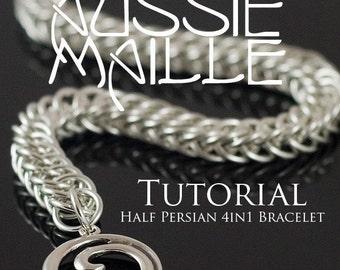 Chainmaille Tutorial - Half Persian 4in1 Bracelet