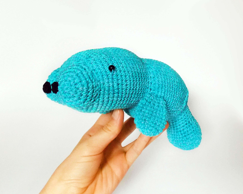 Amigurumi crochet pattern manatee / crocheted manatee / amigurumi ...
