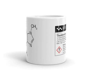 Theobromine Molecule (Chocolate) Mug
