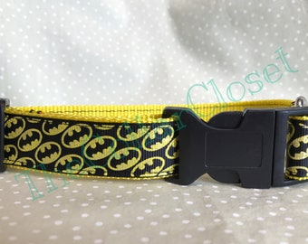 Glitter Batman Logo Dog Collar SALE