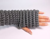 Fingerless gloves. Croche...