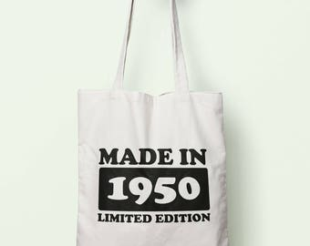 Made In 1950 Limited Edition Tote Bag Long Handles TB1713