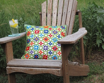 Digital Pattern: Scrappiness Crochet Pillow Cover
