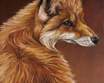 Red Fox Oil Painting