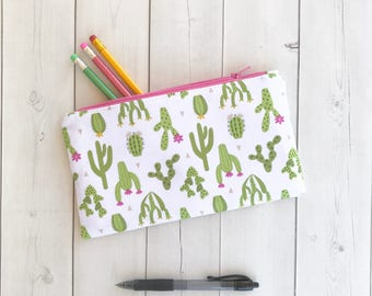 Cactus Pencil Case Cactus Zipper Pouch Cute Cactus Gift Gift For Her Gardening Gift Planner Pouch Gift For Women Pencil Pouch