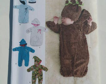 Simplicity Sewing Pattern 8030 Babies' Fleece Bunting and Hats