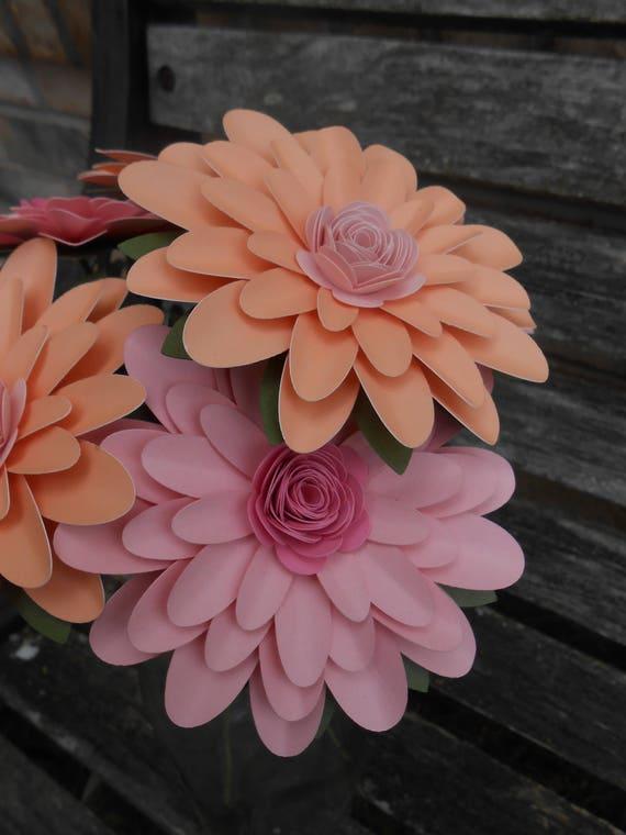 Gerber Daisy Bouquet. CHOOSE YOUR COLORS  Gerbera. Centerpiece, Wedding, Anniversary, Birthday Gift. Paper Flower, Bridal. Gerbera