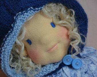 SALLY soft sculpture doll face waldorf inspiration