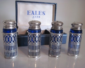 Salt and Pepper Shakers Eales 1779 set of four Shakers
