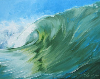 """GICLEE reproduction on 8 1/2 x 11"""" fine art PAPER - Curling Wave series 3 (wave, barrel, tube)"""