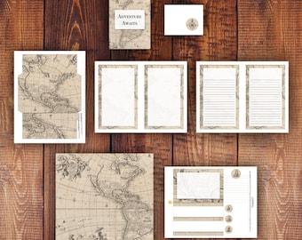 Adventure Awaits Printable Stationery Set