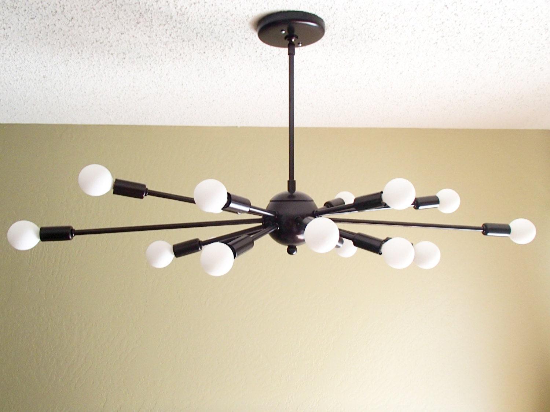 Atomic 16 arm sputnik ceiling light chandelier mid century zoom arubaitofo Choice Image