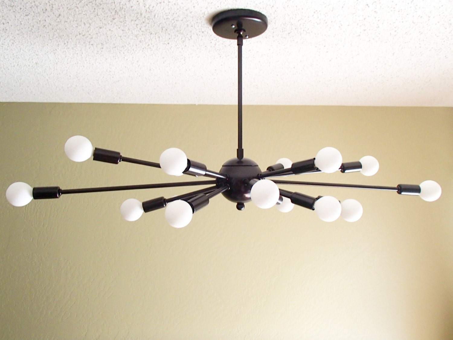 Well-known Atomic 16 Arm Sputnik Ceiling Light Chandelier Mid Century JG03