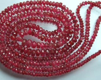 18 Inches Long Strand, Supepr Rare, Soft Light Pink Spinel Faceted Rondelles, 5.5-3mm