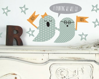 Ghost Wall Decals - Reusable Halloween Wall Decals
