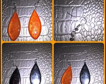 Resin jewelry drop earrings