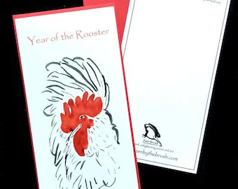 Year of the rooster chinese new year card custom birthday rooster year of the rooster custom birthday card chinese new year w red negle Image collections