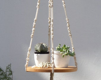 Macrame plant hanger, macrame plant hanger large, modern plant hanger, plant holder, hanging shelf, plant hanging