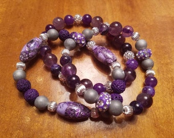 Purple turquoise set
