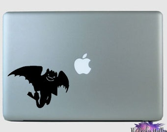 Toothless In Flight - How To Train A Dragon - Viking - Disney - Inspired - Macbook - Laptop - Car Window - Vinyl - Decal - Sticker
