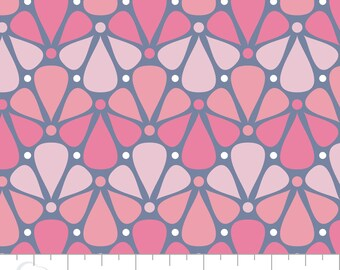 "Floral Fabric/ Nursery Fabric: Camelot Pastel me More Floral Pink 100% cotton Fabric by the yard 36""x44"" (CA592)"