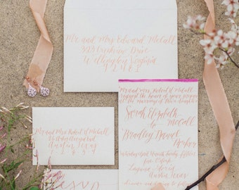 custom calligraphy invitation suite
