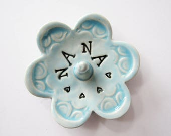 Nana ring dish,  Keepsake Ring Dish, Ready to Ship, Gift for Nana, Gift box included