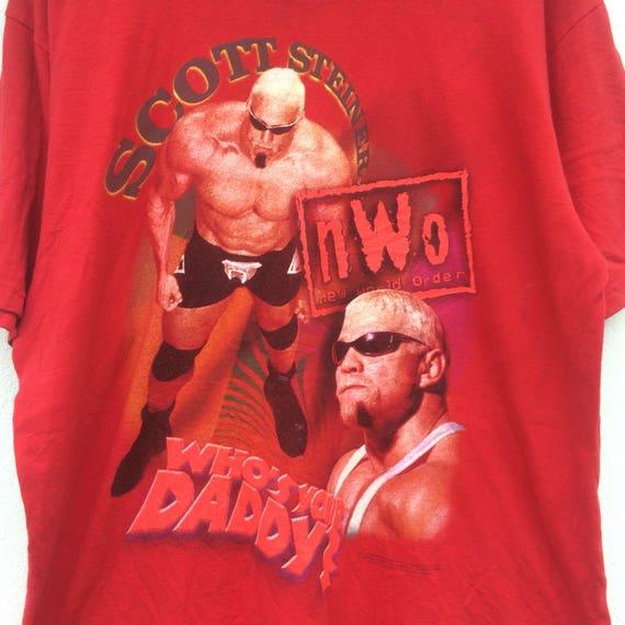 Vintage 1998 World Champion Wrestling WCW SCOTT STEINER Who's Your Daddy Tshirt f6d7bvfa