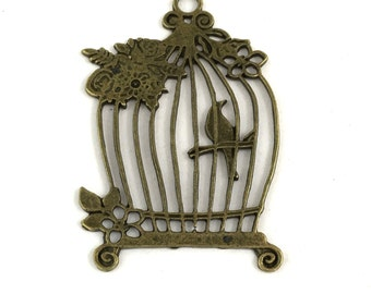 1 bird cage bronze tone 58mm #CH 373
