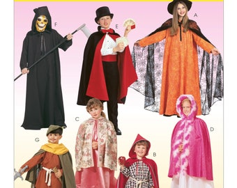 Sewing Pattern for Child Size 2-12, Children's, Boys' and Girls' Cape and Tunic Costumes, McCalls Pattern 7224, Halloween Costumes