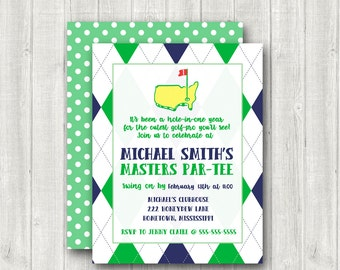 Golf Birthday Invitations Masters Birthday Party Invite Par-tee Birthday Invite for Boys Golf Themed Birthday Digital or Printed