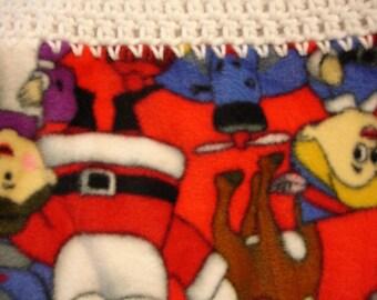 Santa and Elves Fleece Throw