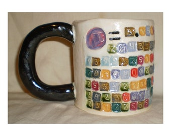 Pi Ceramic Coffee Mug with 158 decimal places of π