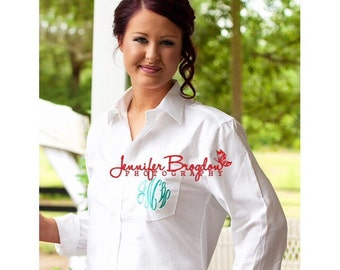 Bride and Bridesmaids Monogrammed Shirts