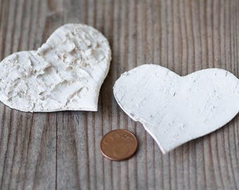 Large Birch Hearts Wedding Decor Rustic Wedding Hearts 7.5cm Birch Bark Heart DIY Wedding Decorations Craft Hearts Wooden Valentine Hearts