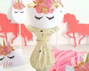 Pink and Gold Unicorn Place Cards Table Decor Unicorn