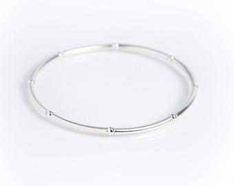 Sterling Silver Beaded Noodle Bracelet