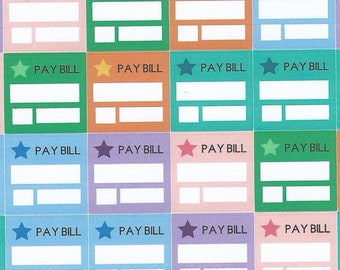 BILL PAY STICKERS