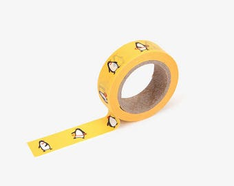 Penguin printed Korean washi tape  for scrapbooking, decorations (15mm x 10m)