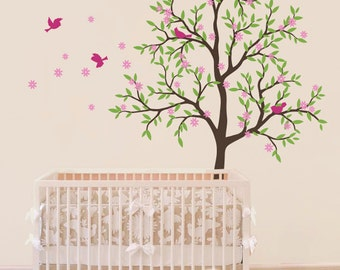 "Baby Nursery Wall Decals - Tree Wall Decal - Nursery Decal - Large: approx 85"" x 75"" - KC009"