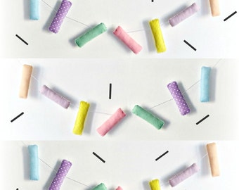 SPRINKLES Garland - pink, lilac, lemon, mint, blue, peach, pastels