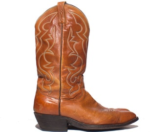 10.5 D | Men's Dan Post Cowboy Boots Distressed Brown Western Wear