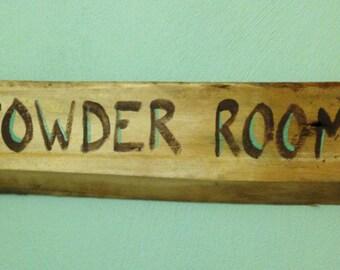 Rustic Powder Room Sign