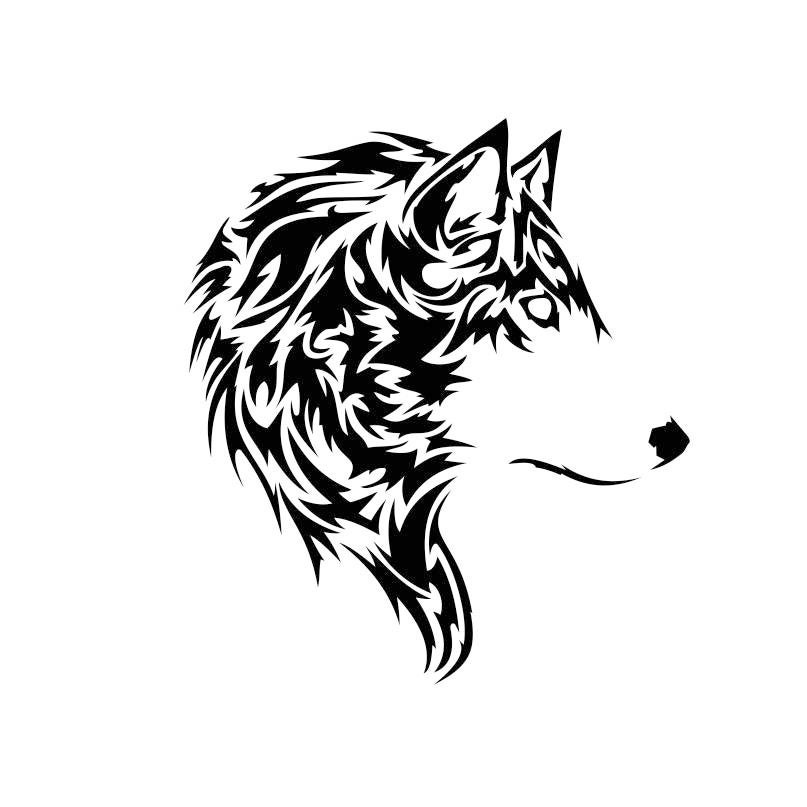 Tribal Wolf Head Graphics SVG Dxf EPS Png Cdr Ai Pdf Vector