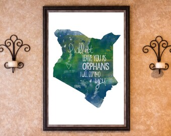Home Decor - Adoption - Kenya Graphic Art