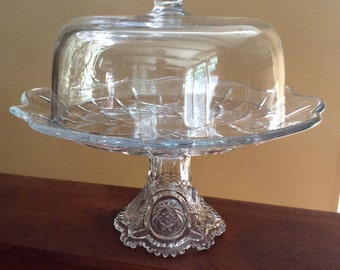 Vintage Covered Cake Stand * Unusual * Wedding Party