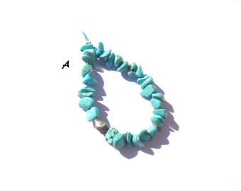 Blue dyed Howlite: chips to choose set