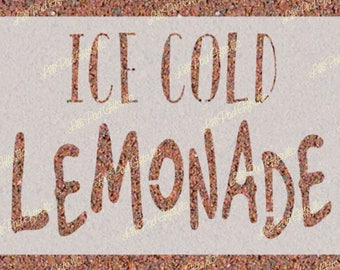ICE COLD LEMONADE - 15.5x10 -  Re-usable stencil